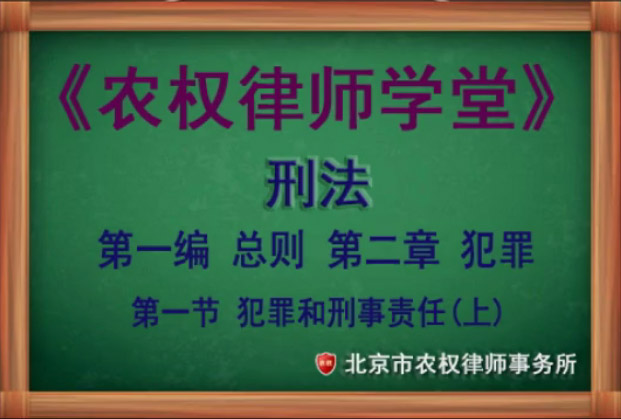 第二章 犯罪 第一节犯罪和刑事责任(中)