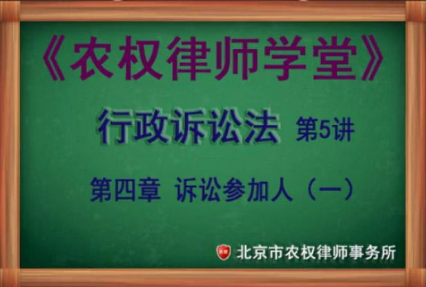 第5讲 第四章 诉讼参加人(一)